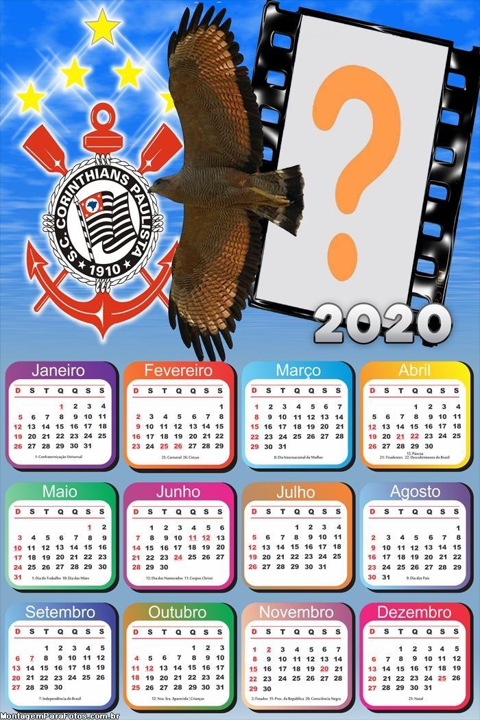 Calendário 2020 Gavião da Fiel