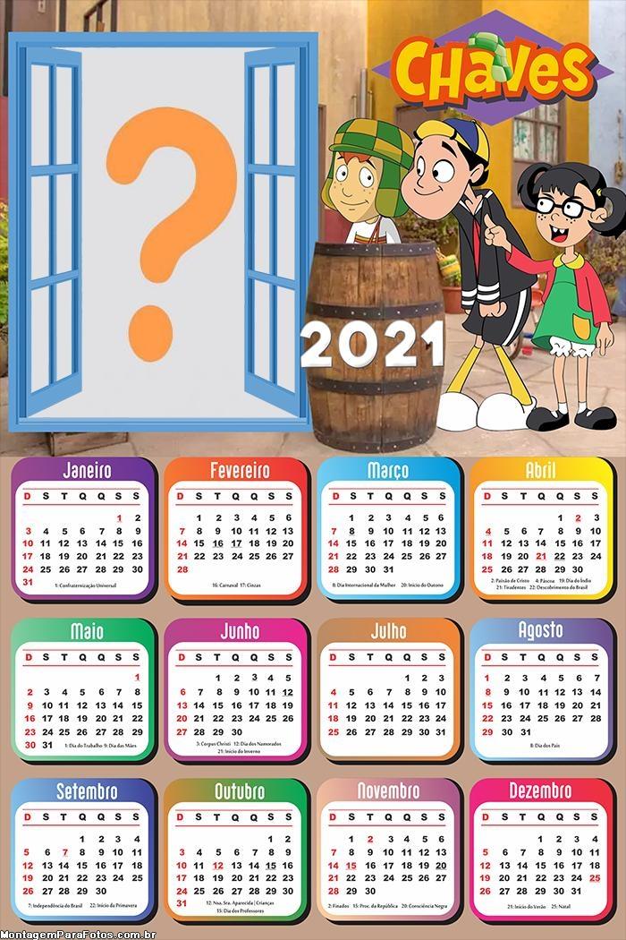 Colagem de Foto Calendário 2021 Chaves