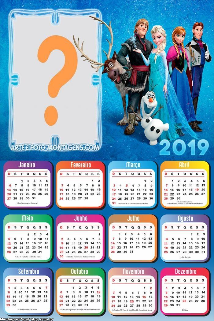 Calendário 2019 Frozen Filme