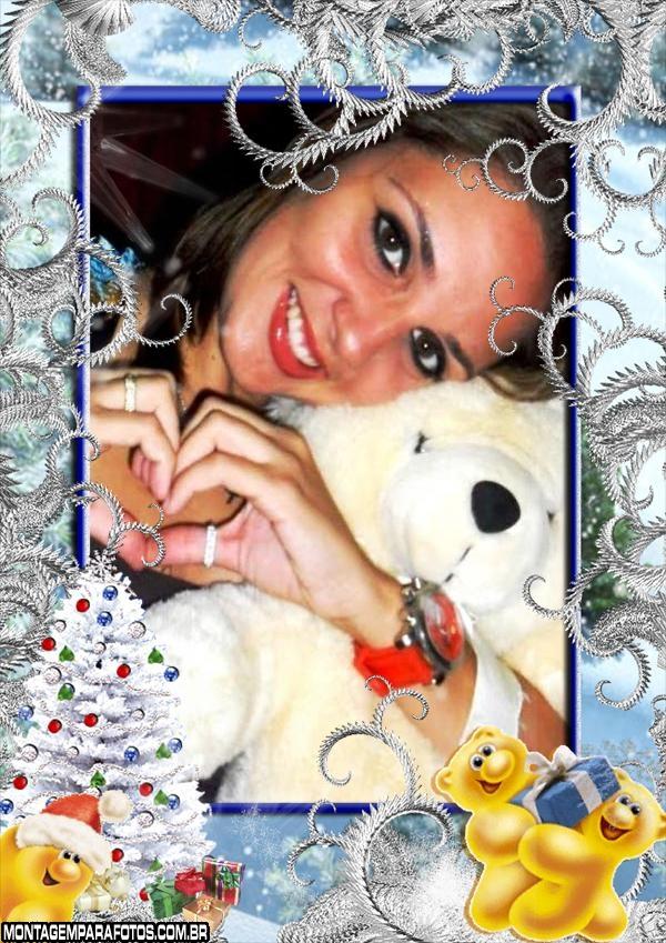 Moldura Ursinhos de Natal