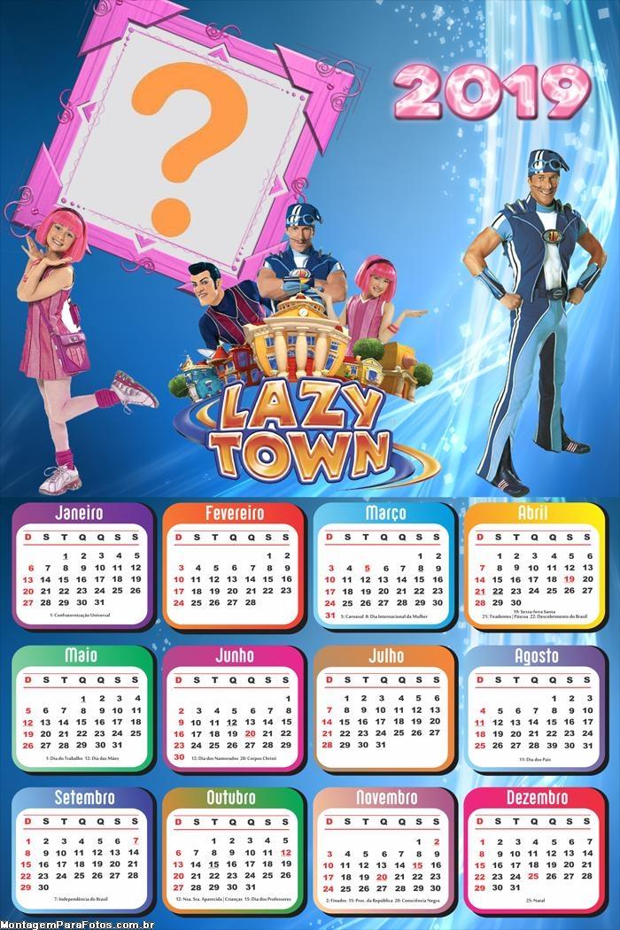 Calendário 2019 Lazy Town Discovery Kids