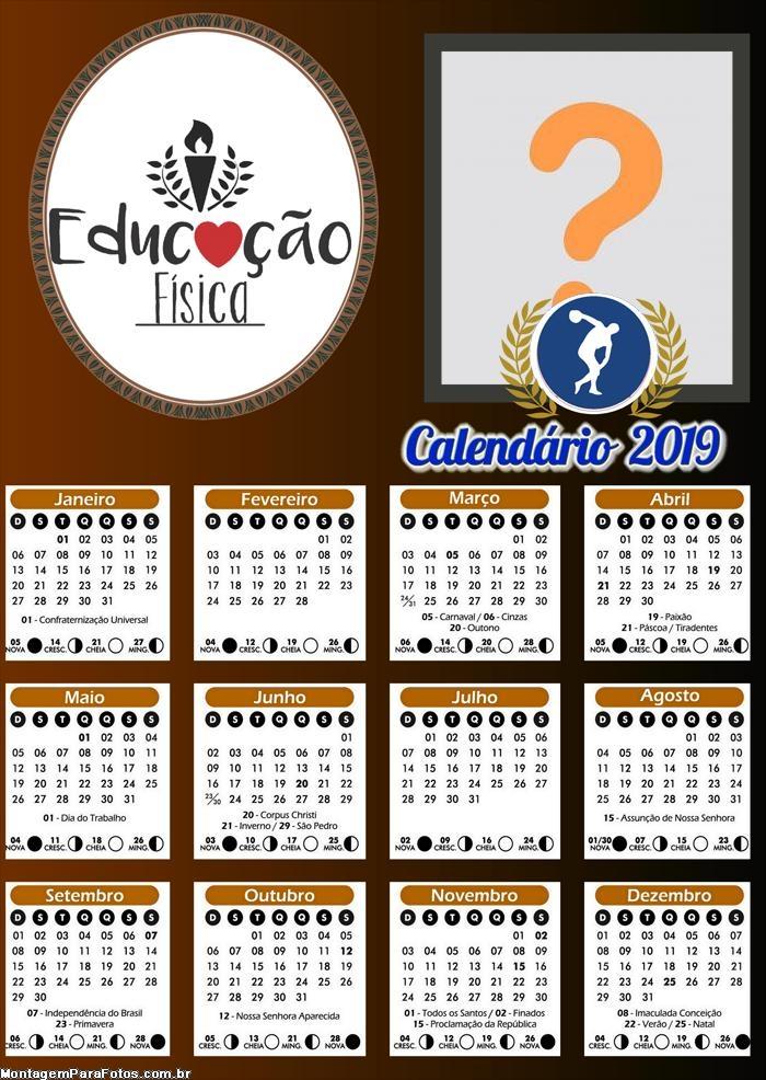 Calendário Educação Física 2019