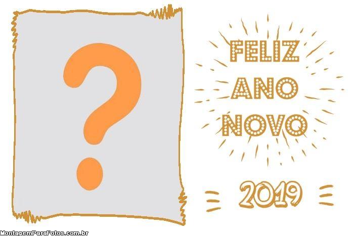 FotoMoldura Feliz Ano Novo 2019