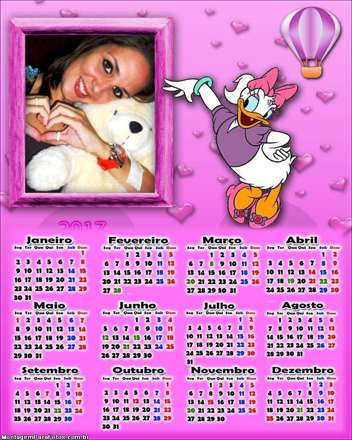 Calendário 2017 Margarida Disney