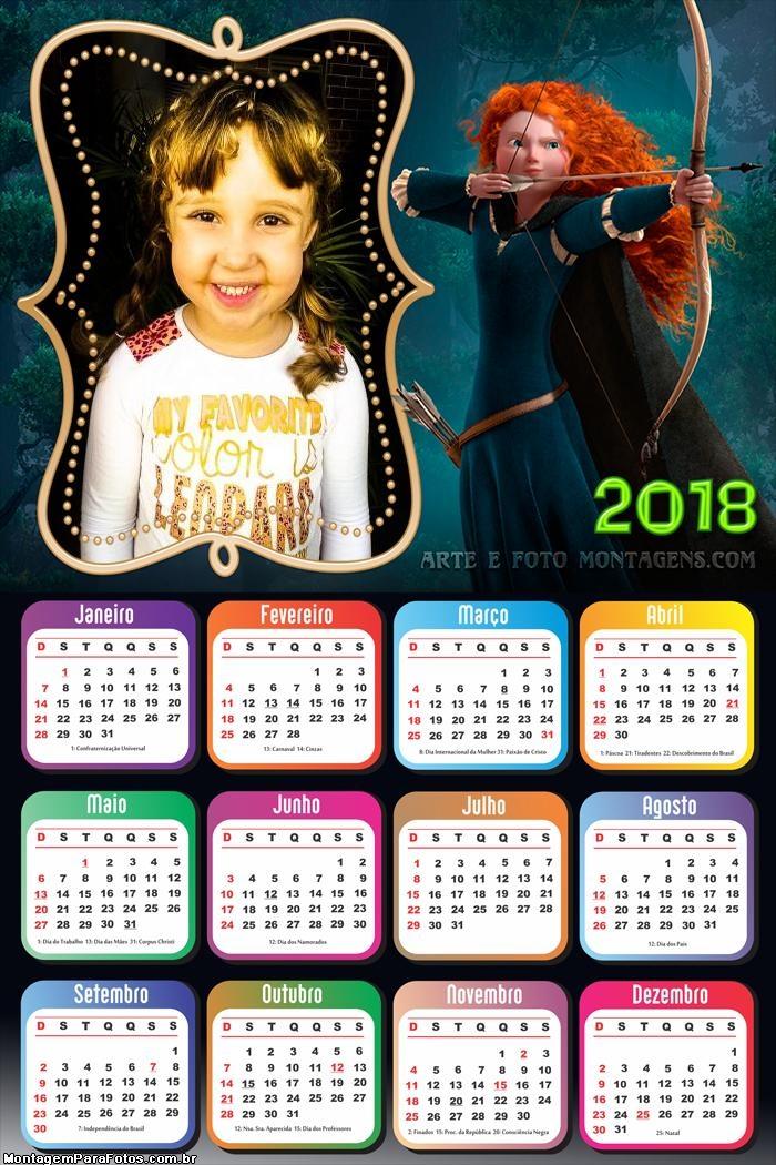 Calendário 2018 Valente Merida