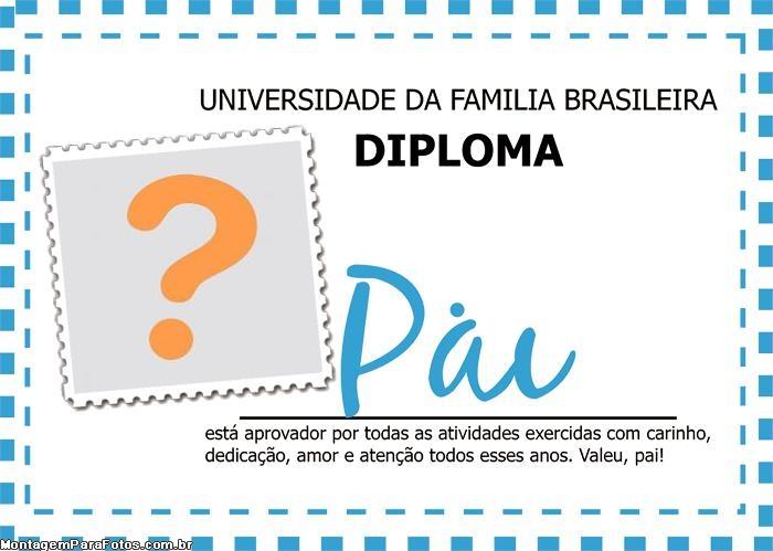 Diploma Pai FotoMoldura