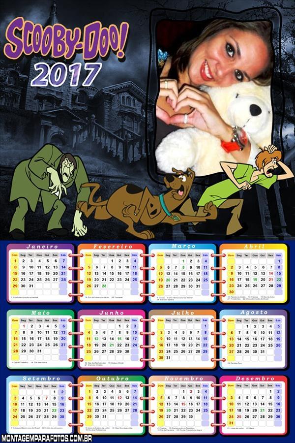 Calendário 2017 Mostros Scooby Doo