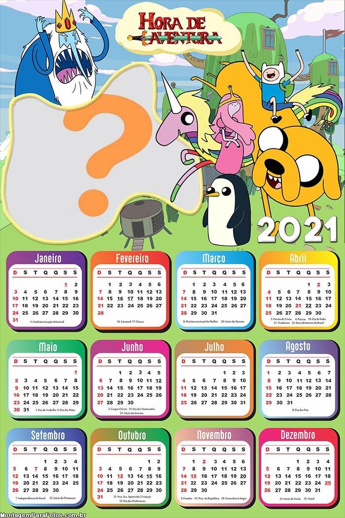 Calendário 2021 Hora de Aventura Fazer Colagem