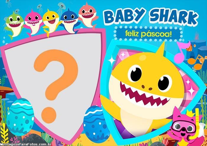 Feliz Páscoa do Baby Shark Montagem de Foto