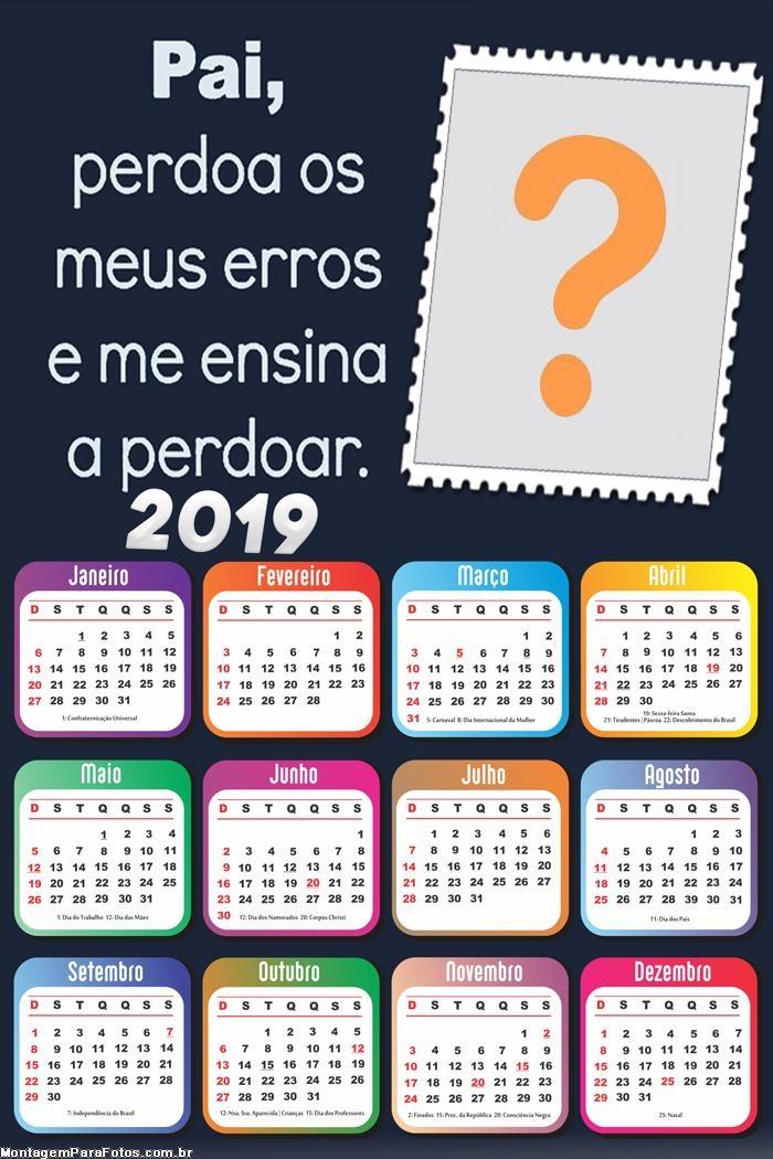 Calendário 2019 Pai Perdoa Meus Erros 2019