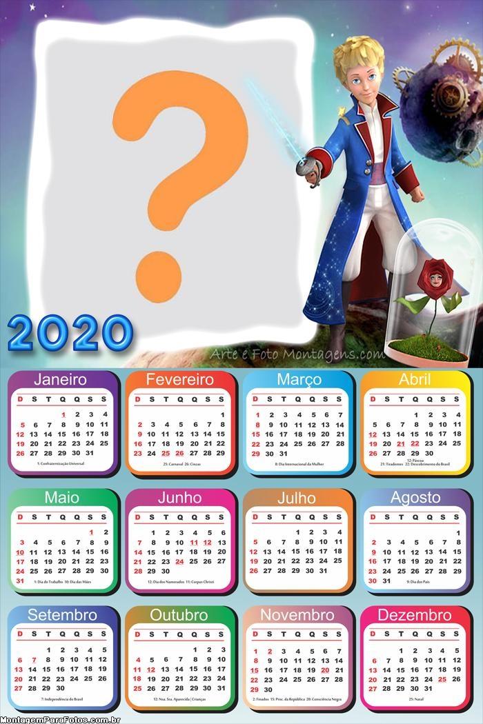 Calendário 2020 do Pequeno Príncipe