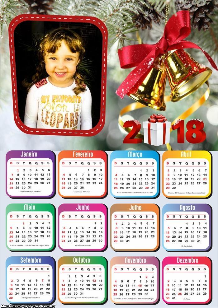 Montagem Digital Calendário 2018 Natal