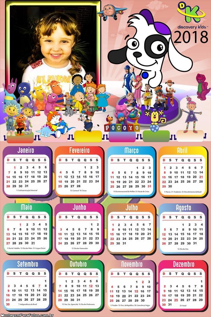 Calendário 2018 Doki Discovery Kids