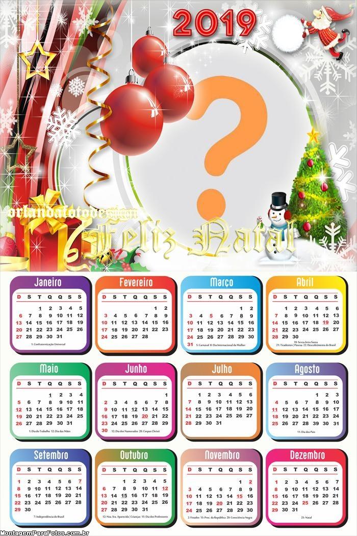 Calendário 2019 de Natal