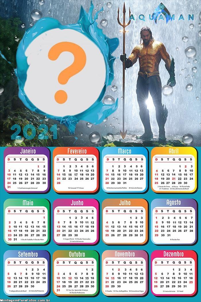 Calendário 2021 Aquaman
