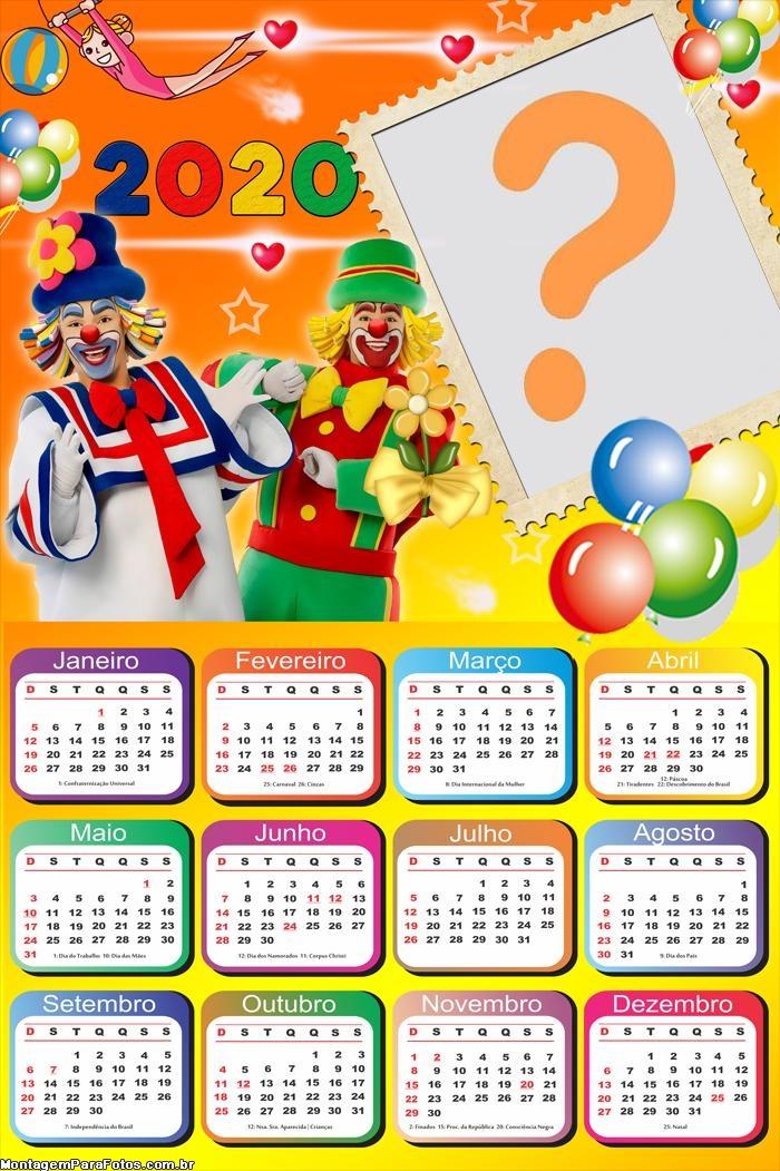 Calendário 2020 Palhaços Patati Patatá