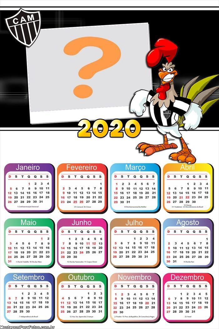 Calendário 2020 Galo Foto Montagem Grátis
