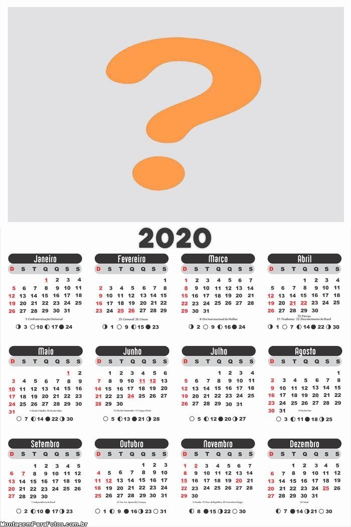 Calendário 2020 para Empresas e Comércios