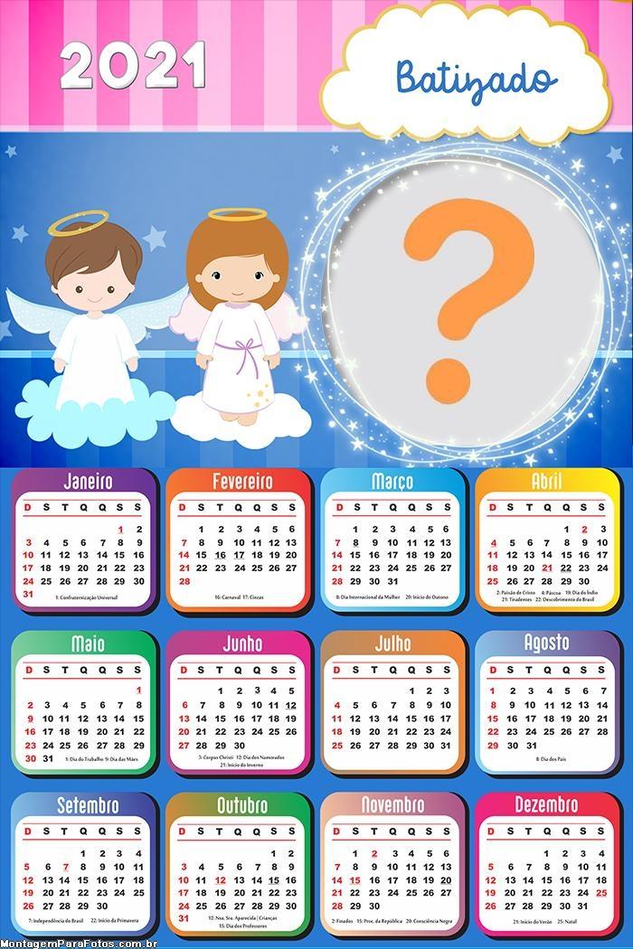 Calendário 2021 de Batizado