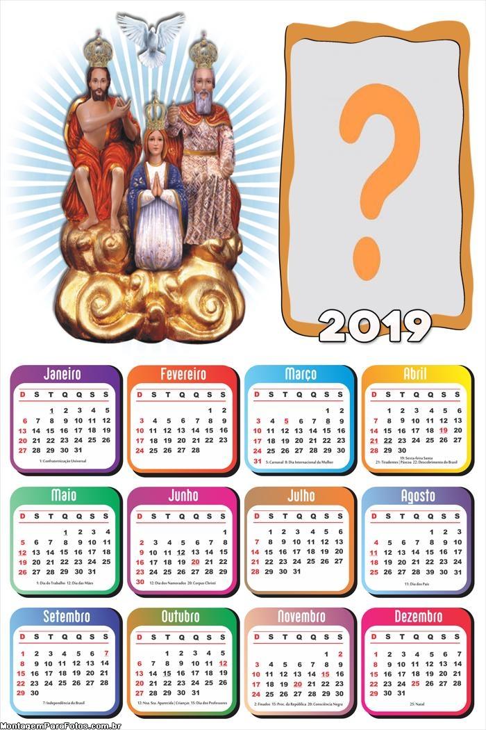 Calendário 2019 Divino Pai Eterno