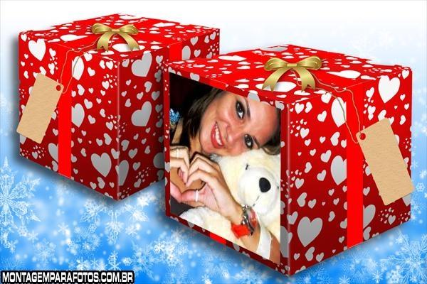 Caixa de Aniversário Romantica