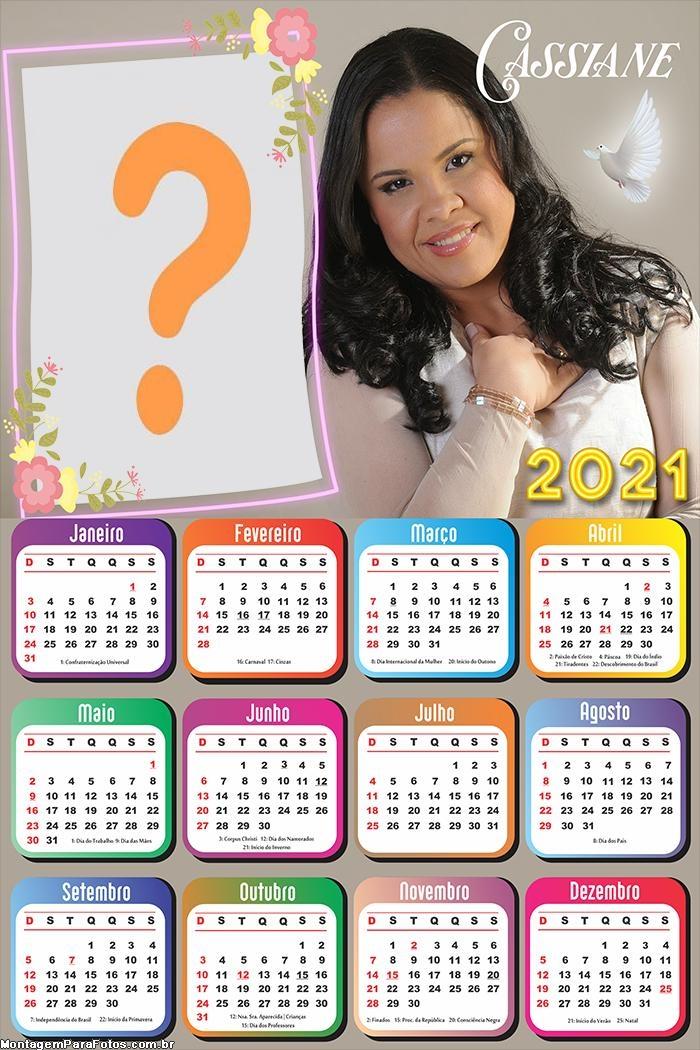 Calendário 2021 Cassiane Molduras para Fotos