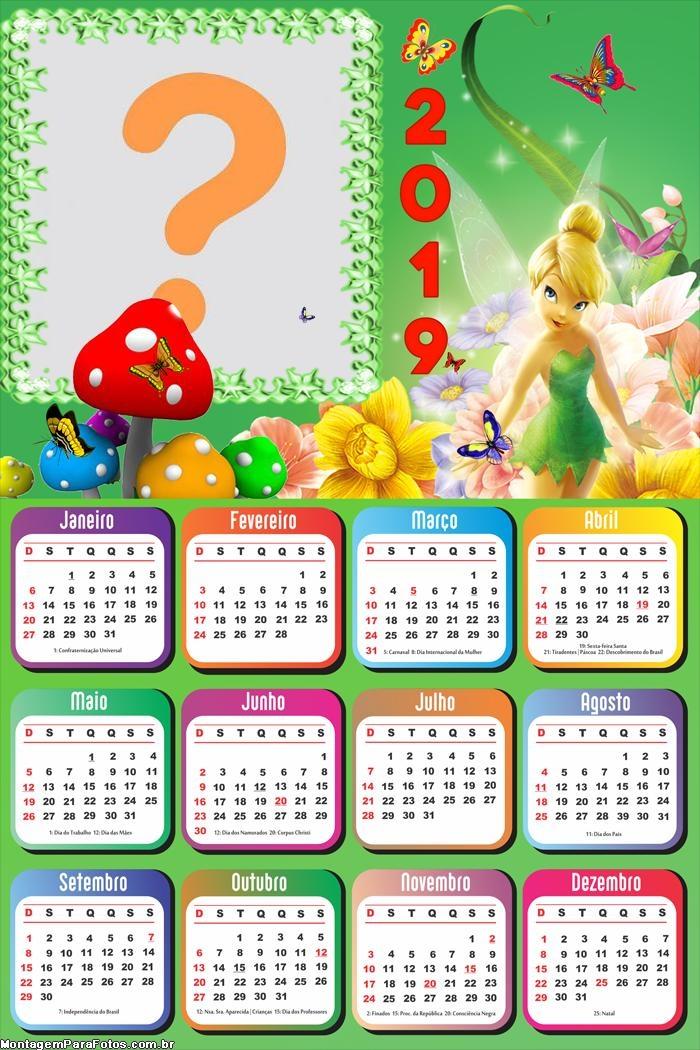 Calendário 2019 da TinkerBell