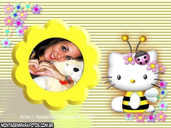 Moldura Hello Kitty Abelhinha