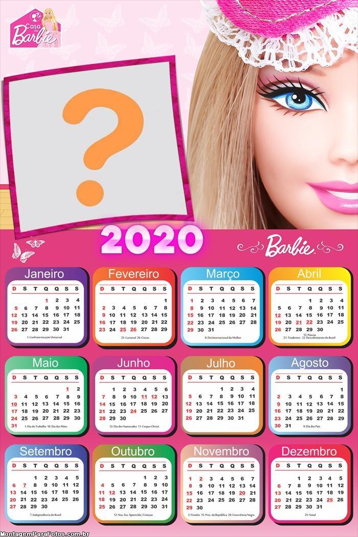 Calendário 2020 Boneca Barbie