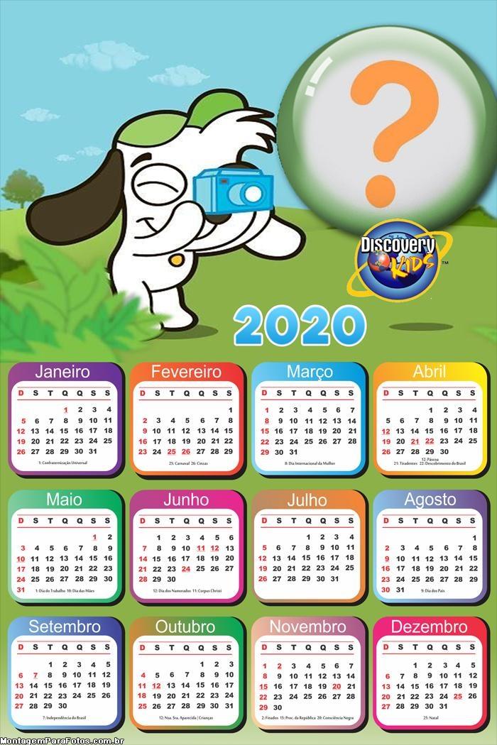 FotoMontagem Calendário 2020 Doki