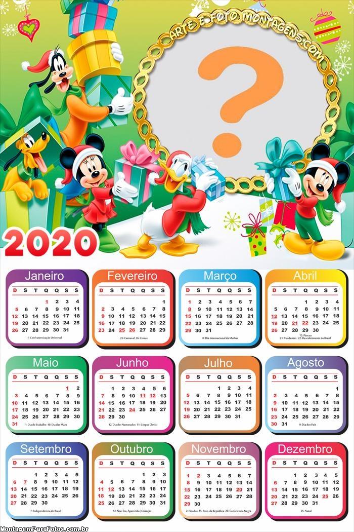 Calendário 2020 Turma do Mickey Natal