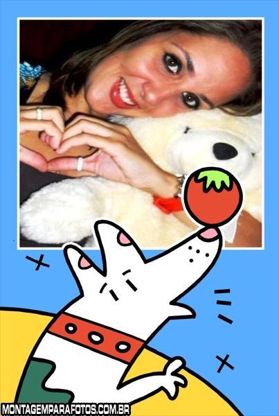 Cachorro com Tomate no Nariz