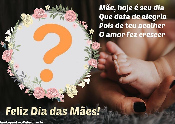 Poema Dia das Mães com Colagem de Fotos