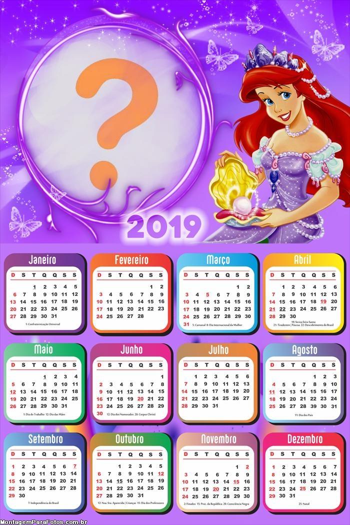 Calendário 2019 Ariel Pérola do Mar