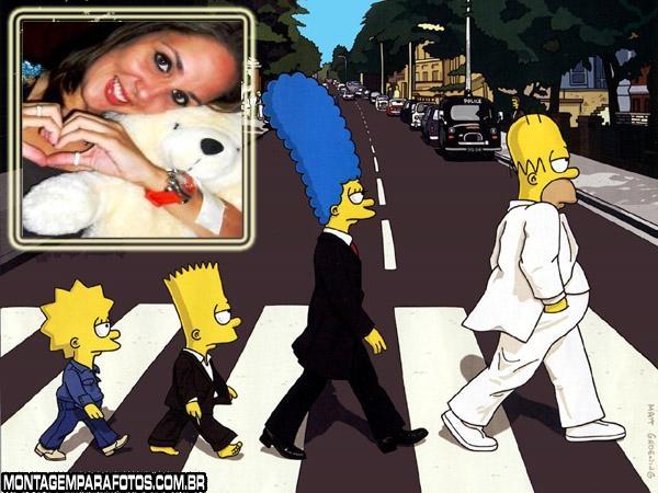 Moldura Simpson Beatles