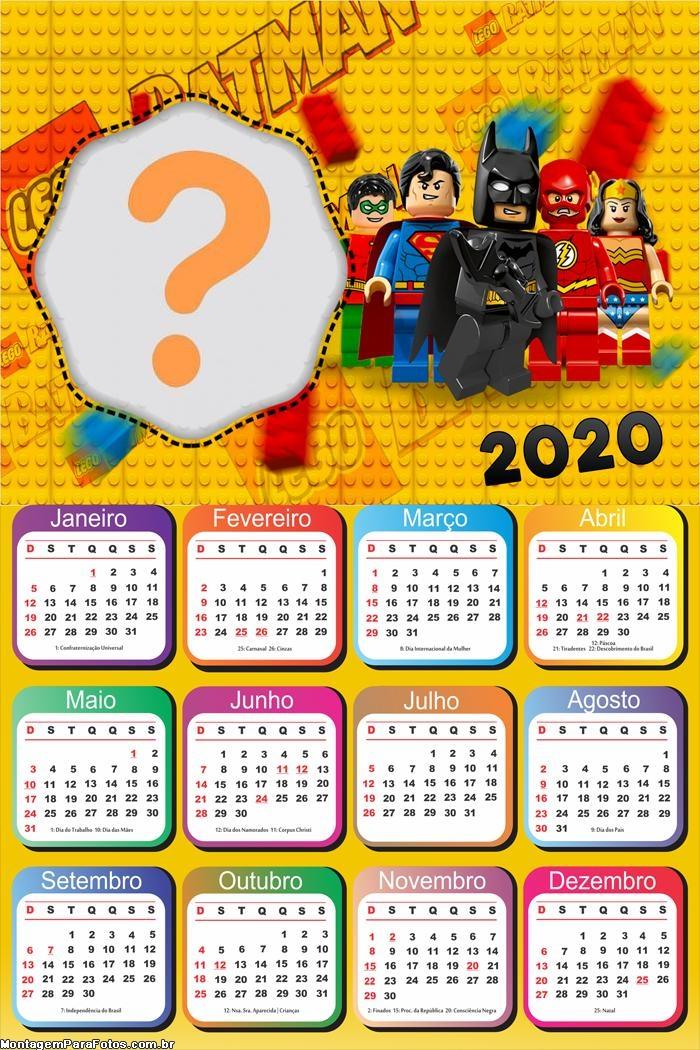 Calendário 2020 Batman Lego Moldura
