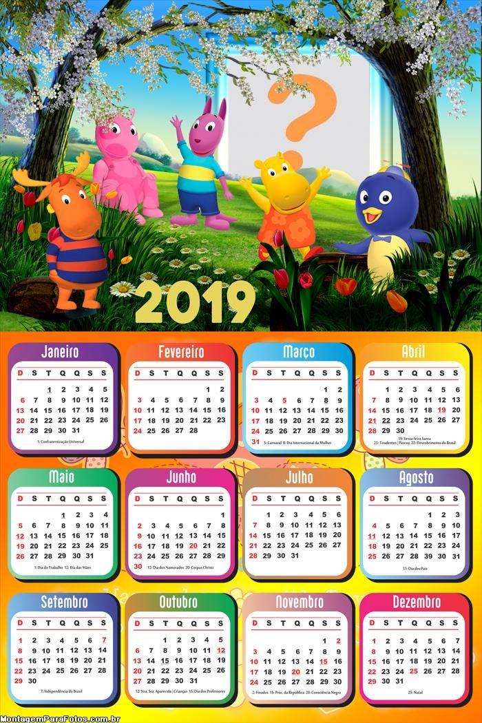 Calendário 2019 Os Backyardigans