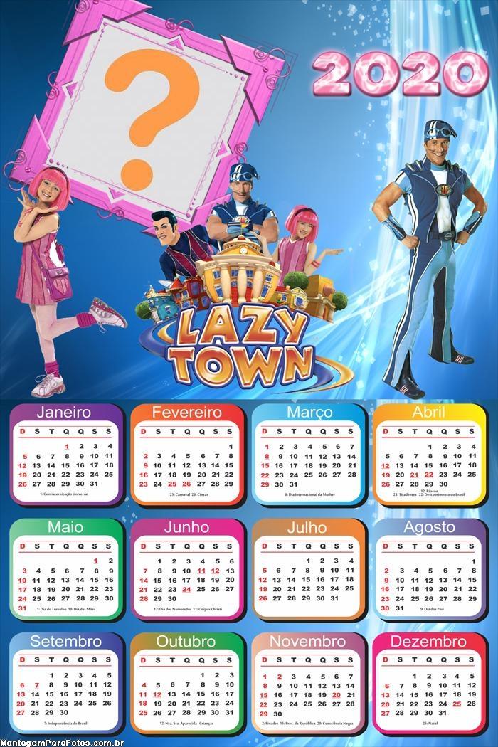 Calendário 2020 Lazy Town Montar Foto Online