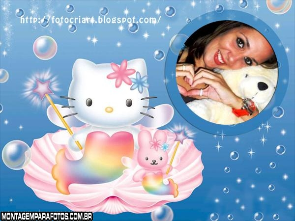 Hello Kitty Sereia Moldura