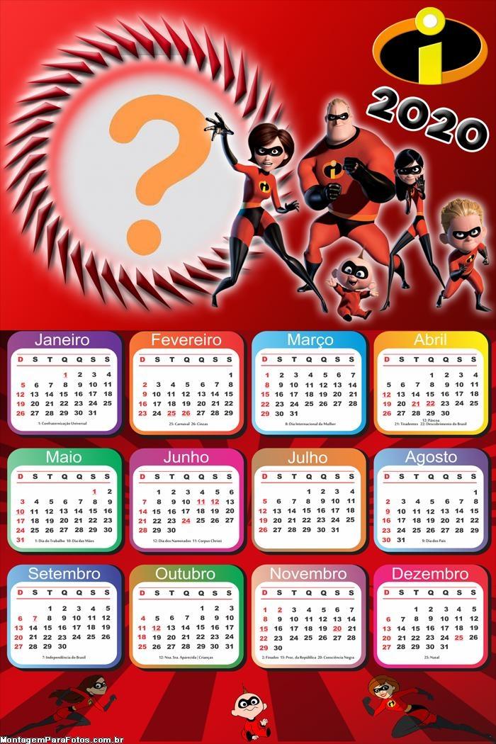 Montar Calendario 2020 Incriveis Desenho Montagem Para Fotos