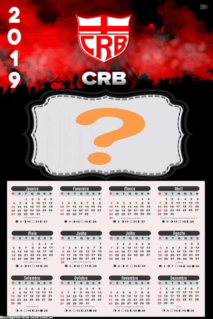 Calendário 2019 CRB Clube Regatas Brasil