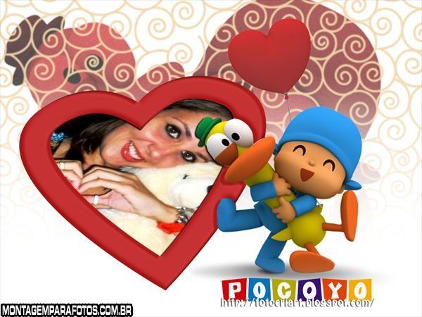 Moldura Pocoyo Coração