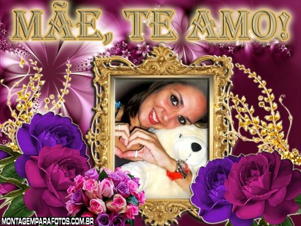 Flor Roxa Dia das Mães
