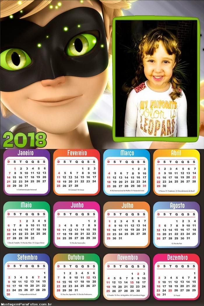 Calendário 2018 do CatNoir