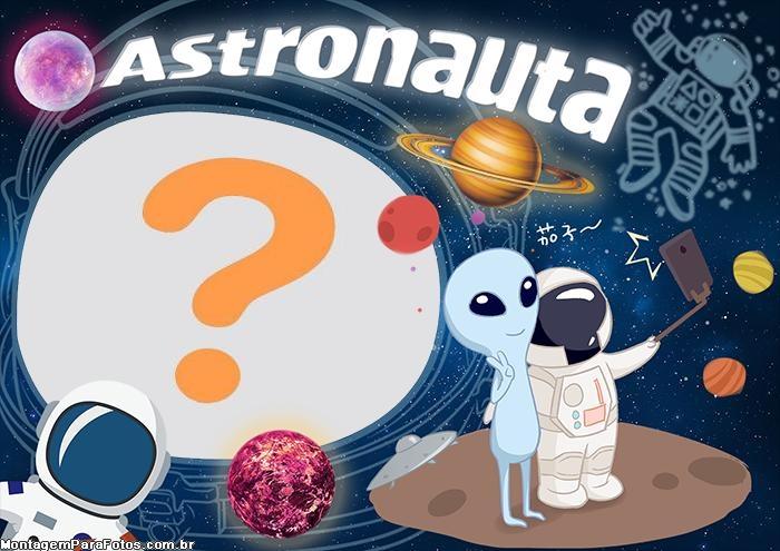 Astronauta Foto Moldura