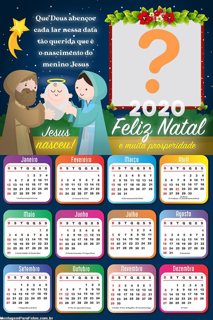 Calendário 2020 Que Deus Abençoe cada lar