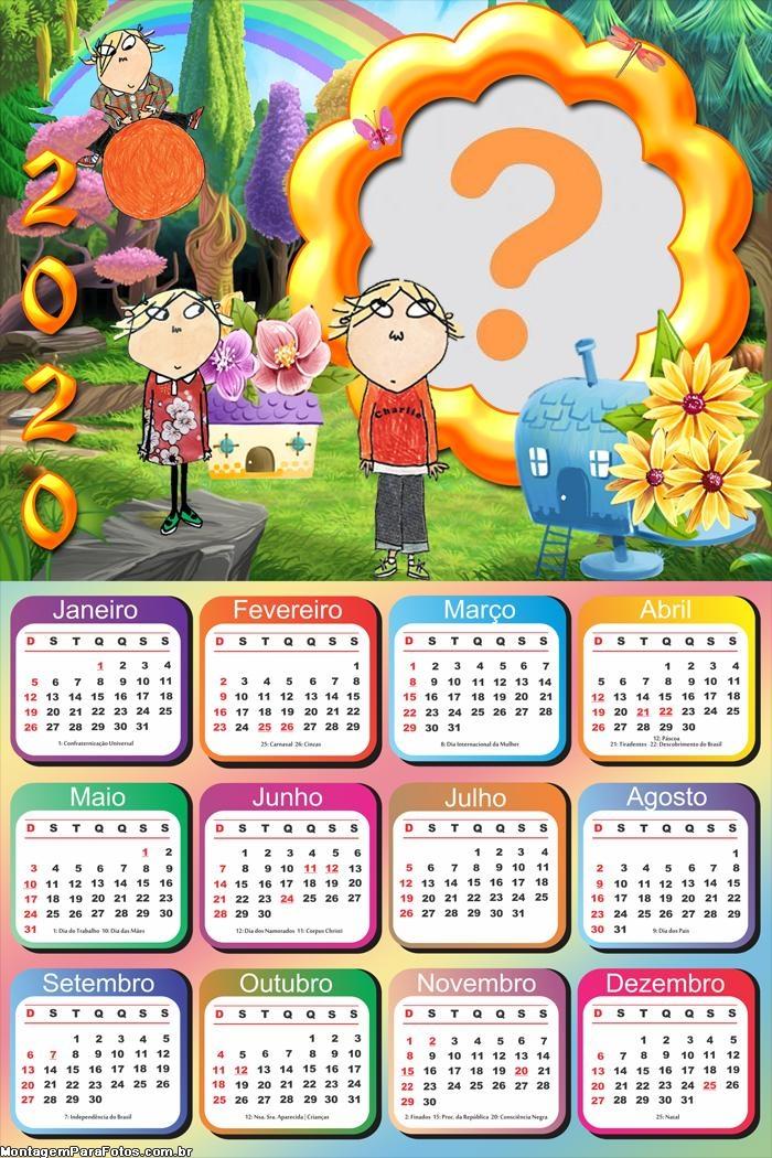 Calendário 2020 Charlie e Lola