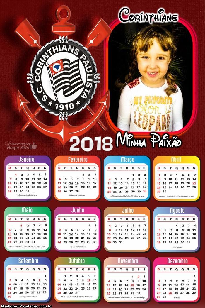 Calendário 2018 Paixão Corinthiana