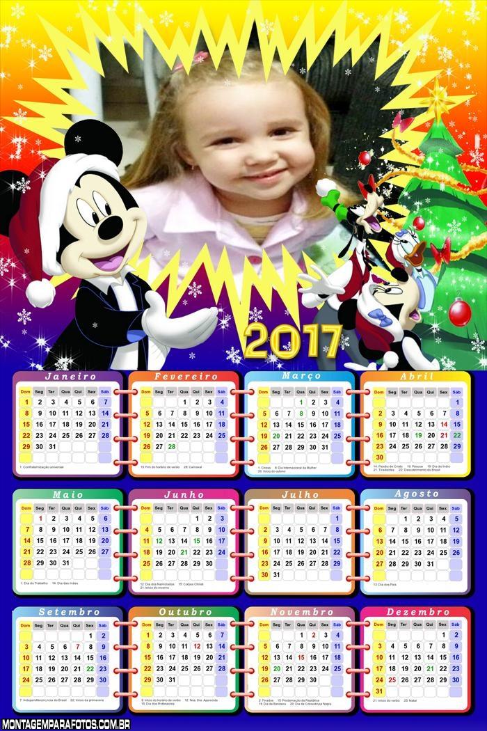 Calendário 2017 Natal Borbulhante Mickey