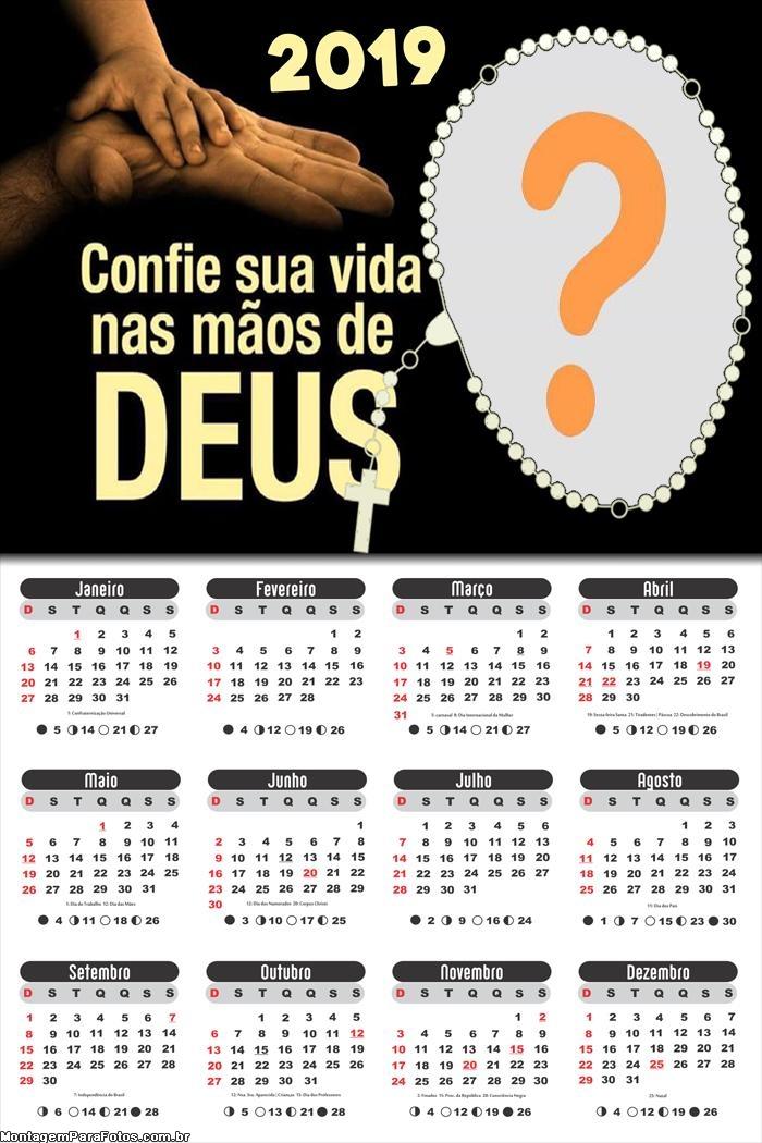 Calendário 2019 Confie sua Vida